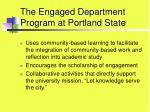 the engaged department program at portland state