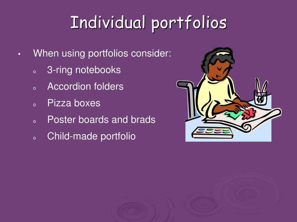 Individual portfolios