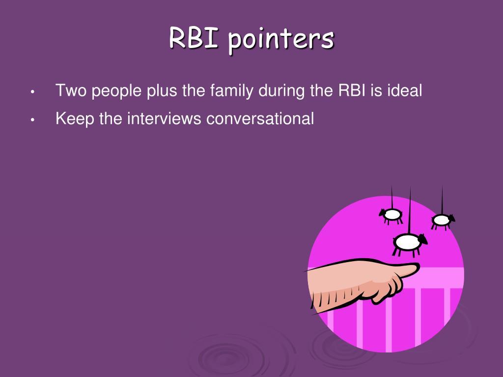 RBI pointers