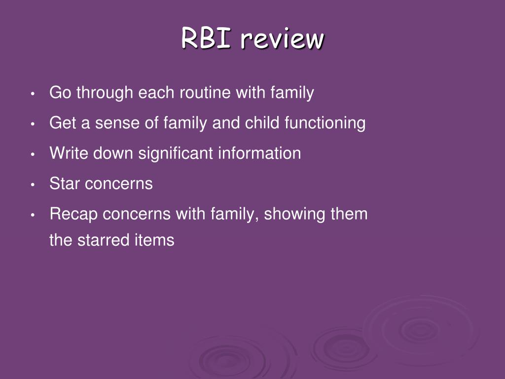 RBI review