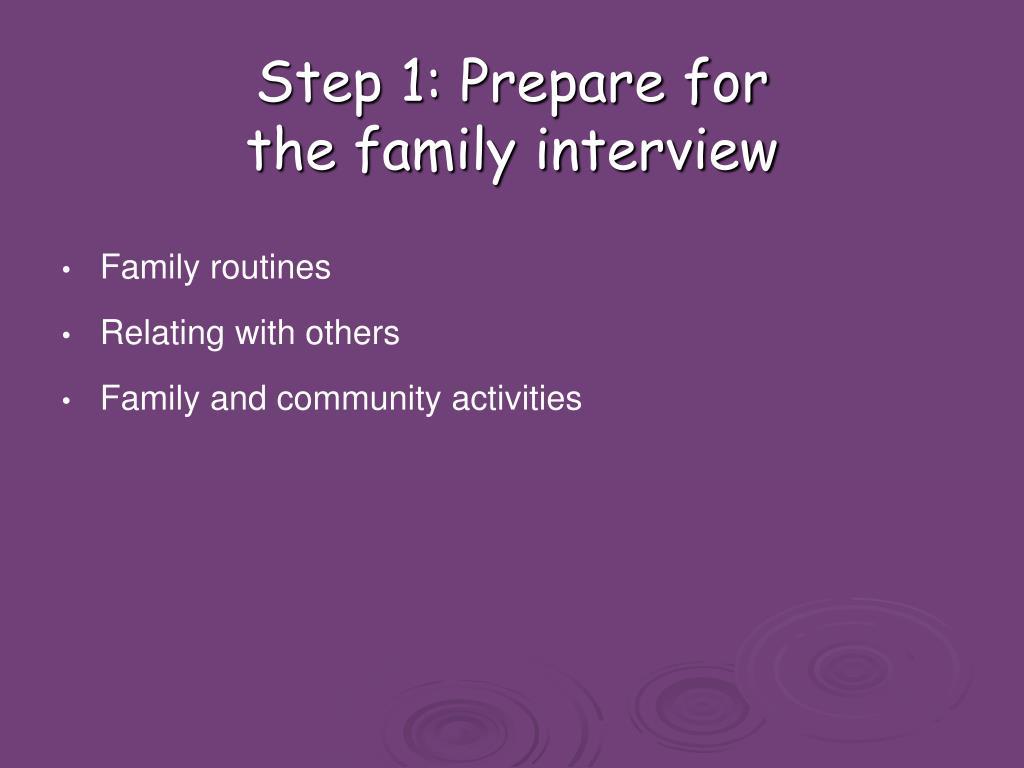 Step 1: Prepare for
