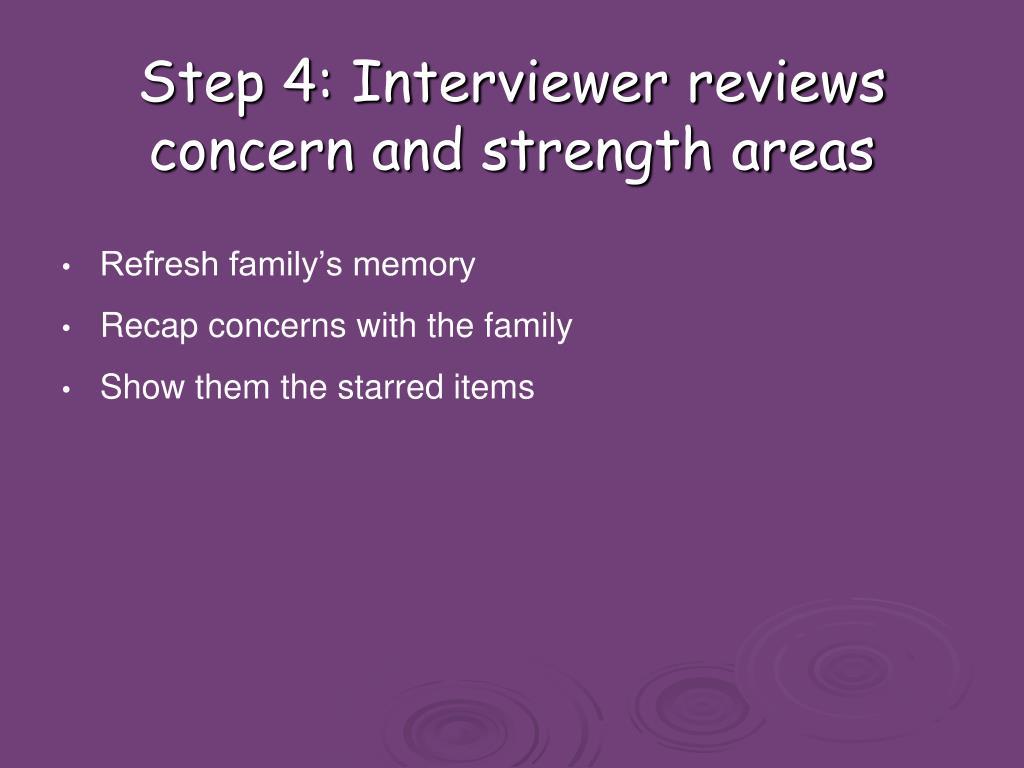 Step 4: Interviewer reviews