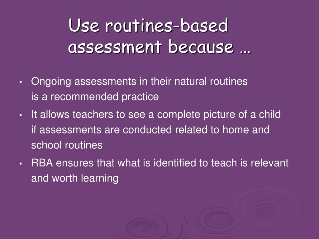 Use routines-based