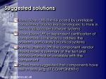 suggested solutions
