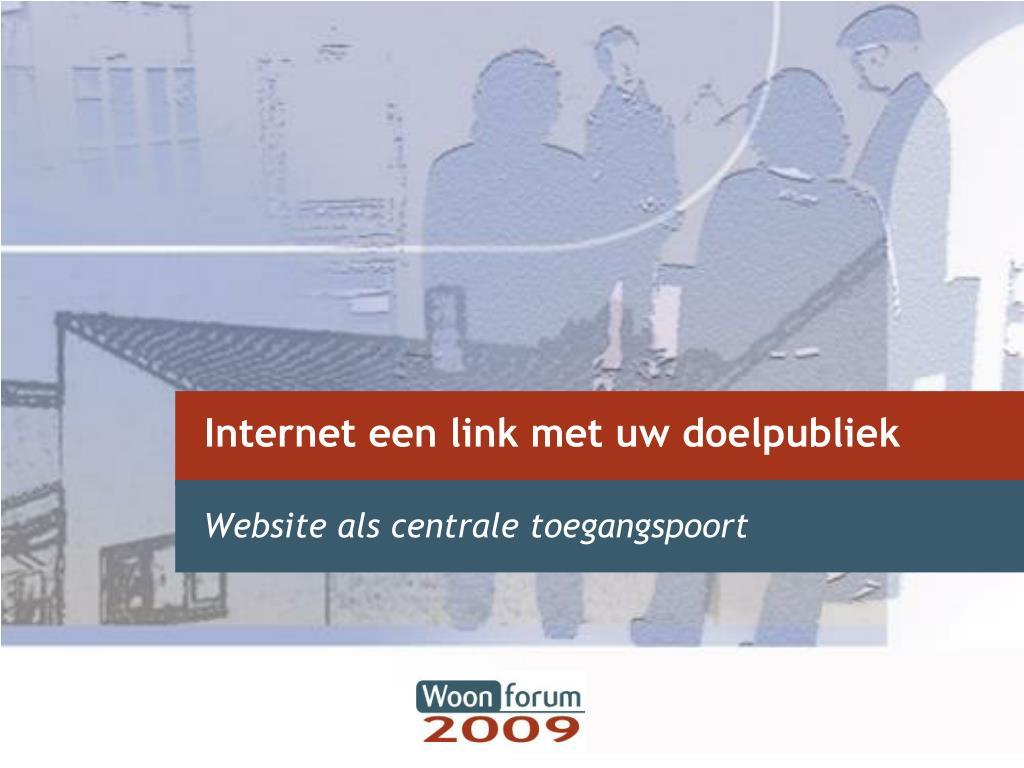 internet een link met uw doelpubliek l.