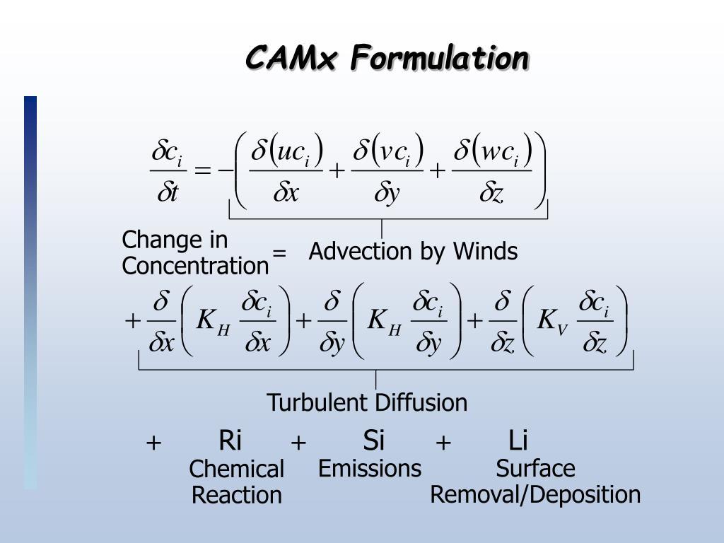 CAMx Formulation