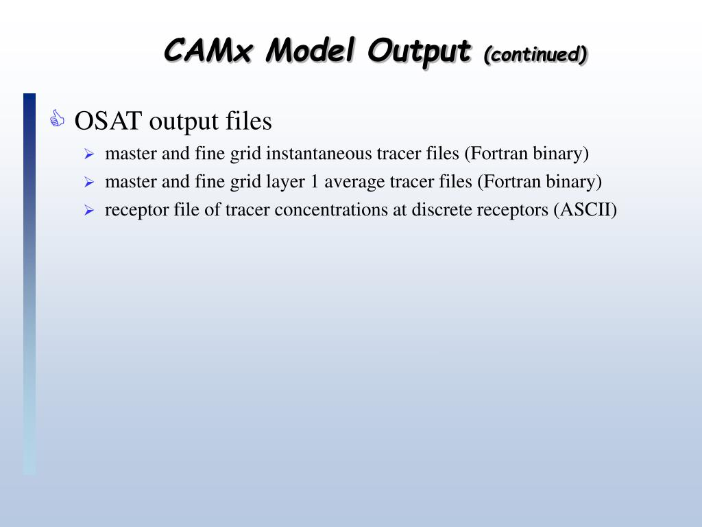CAMx Model Output