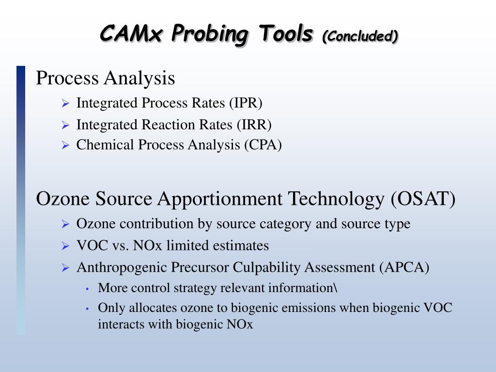 CAMx Probing Tools