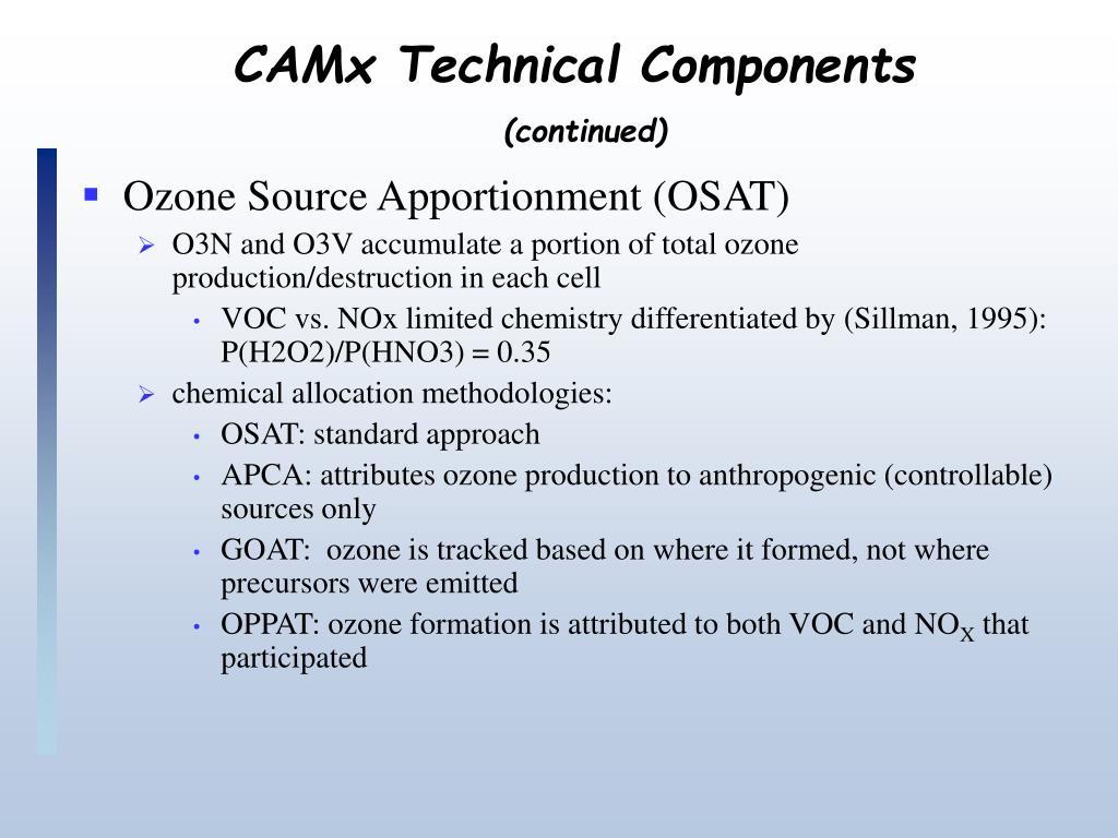 CAMx Technical Components