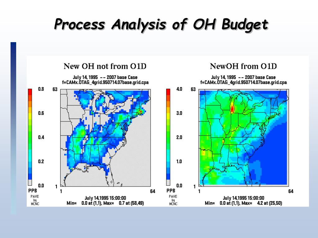 Process Analysis of OH Budget
