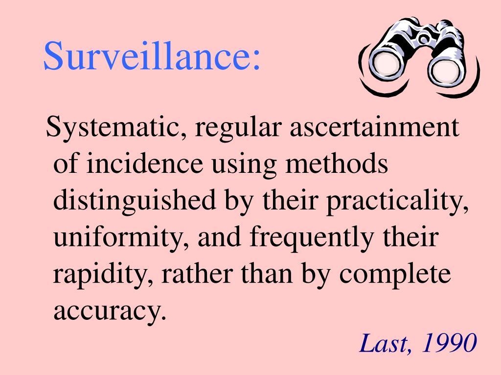 Surveillance: