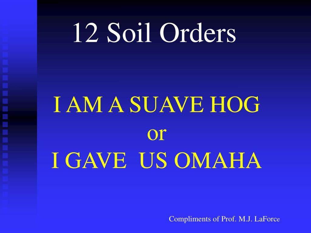 12 Soil Orders