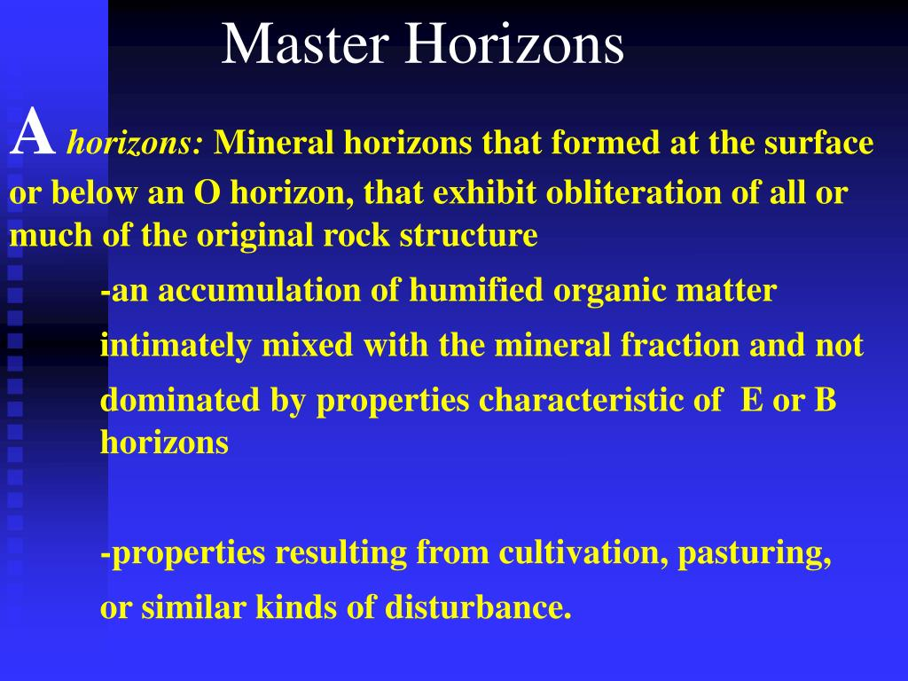 Master Horizons