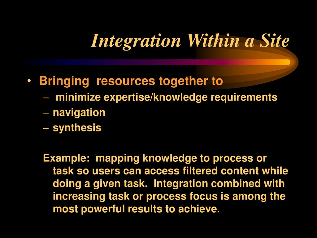 Integration Within a Site