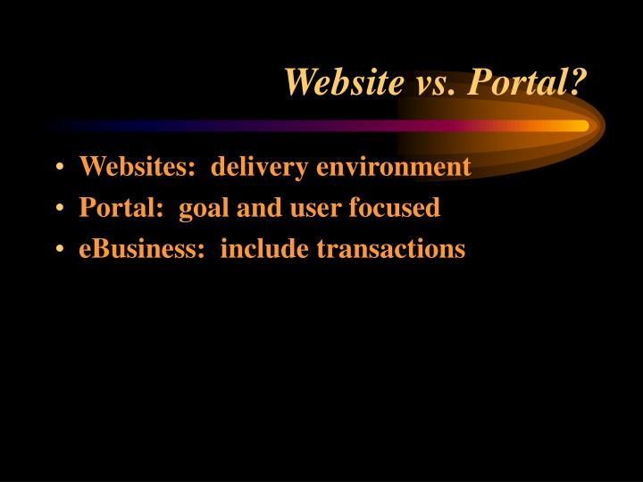 Website vs portal