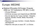 europe medine