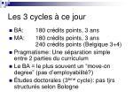 les 3 cycles ce jour