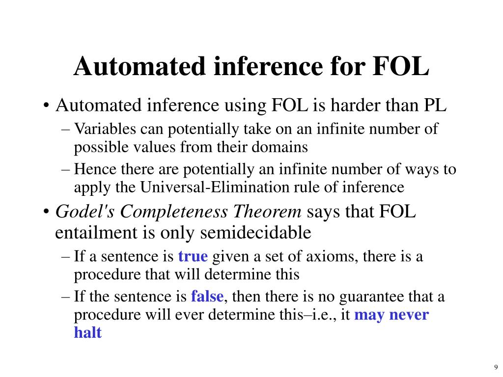 Automated inference for FOL
