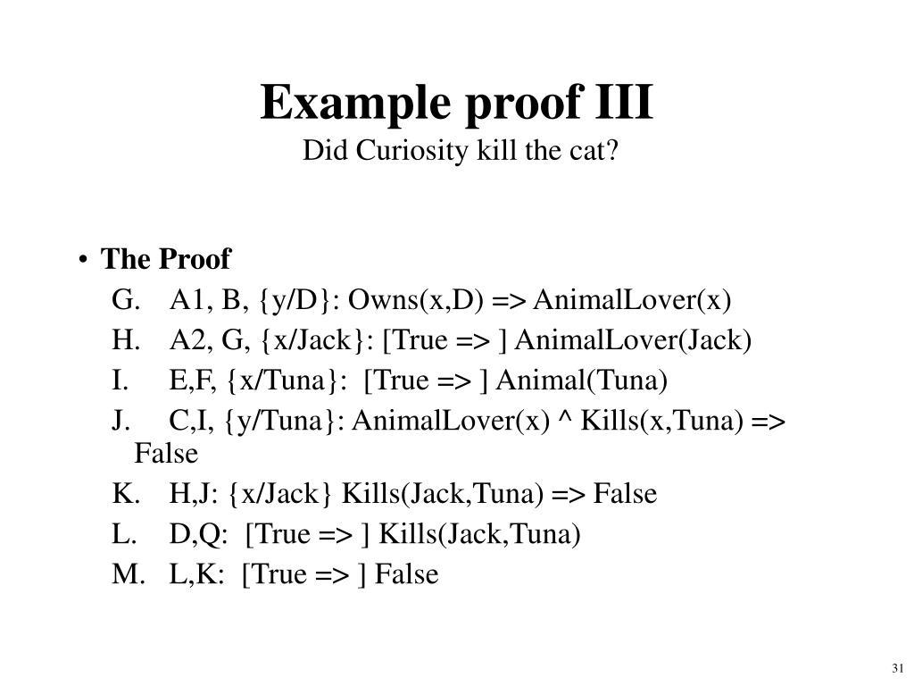 Example proof III