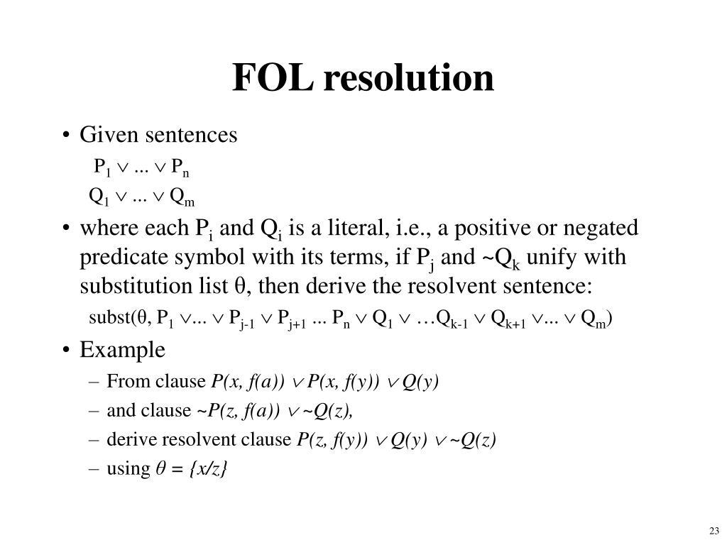FOL resolution