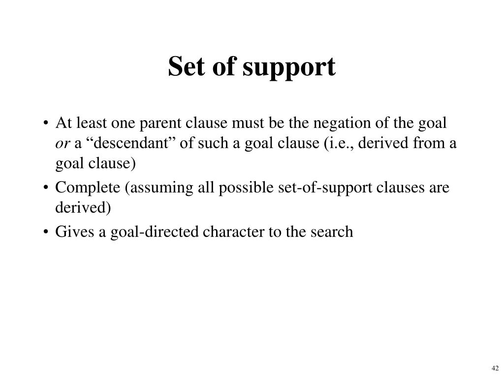 Set of support