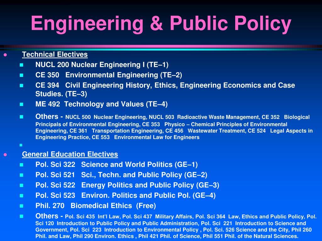Technical Electives