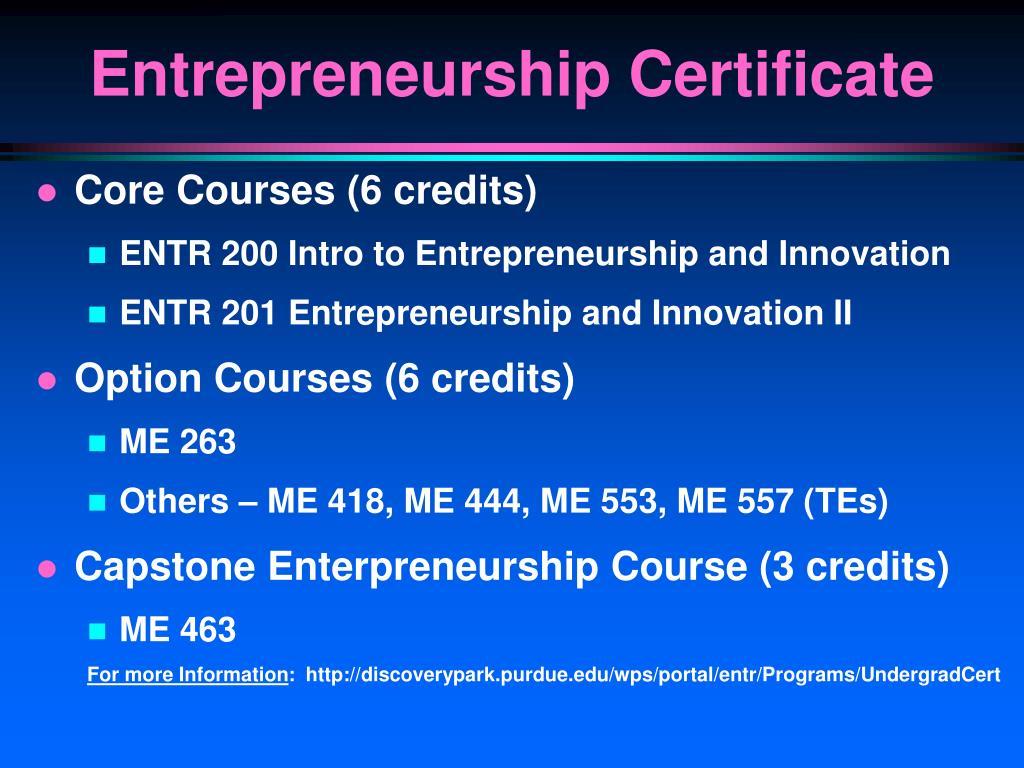 Core Courses (6 credits)