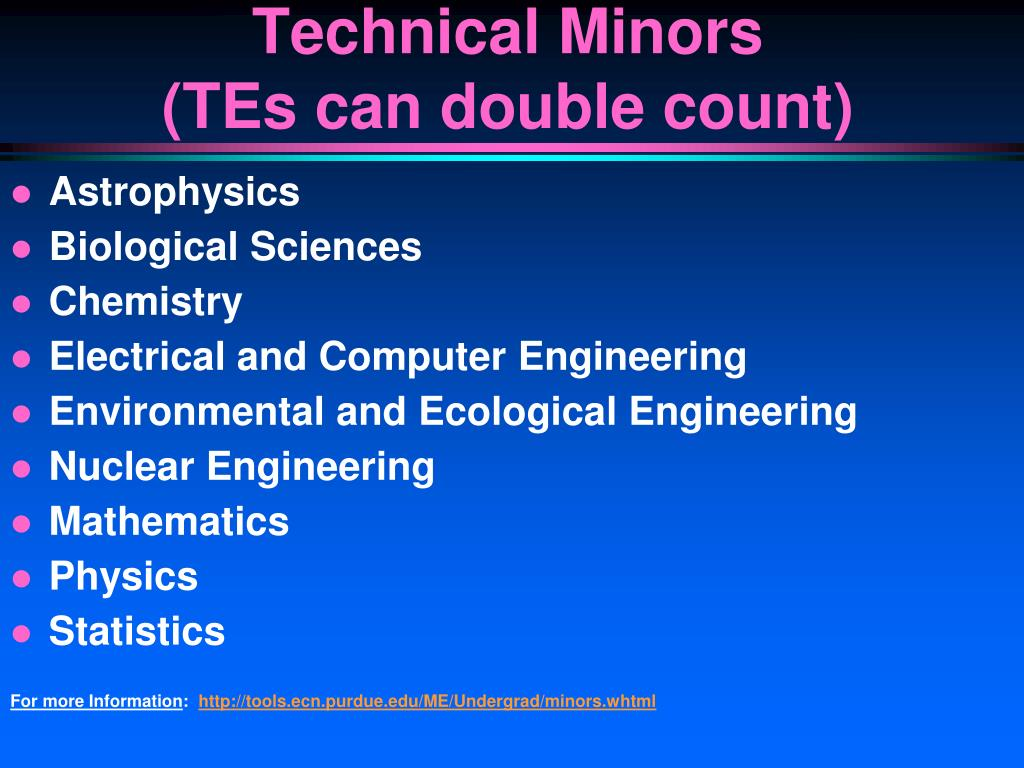 Technical Minors