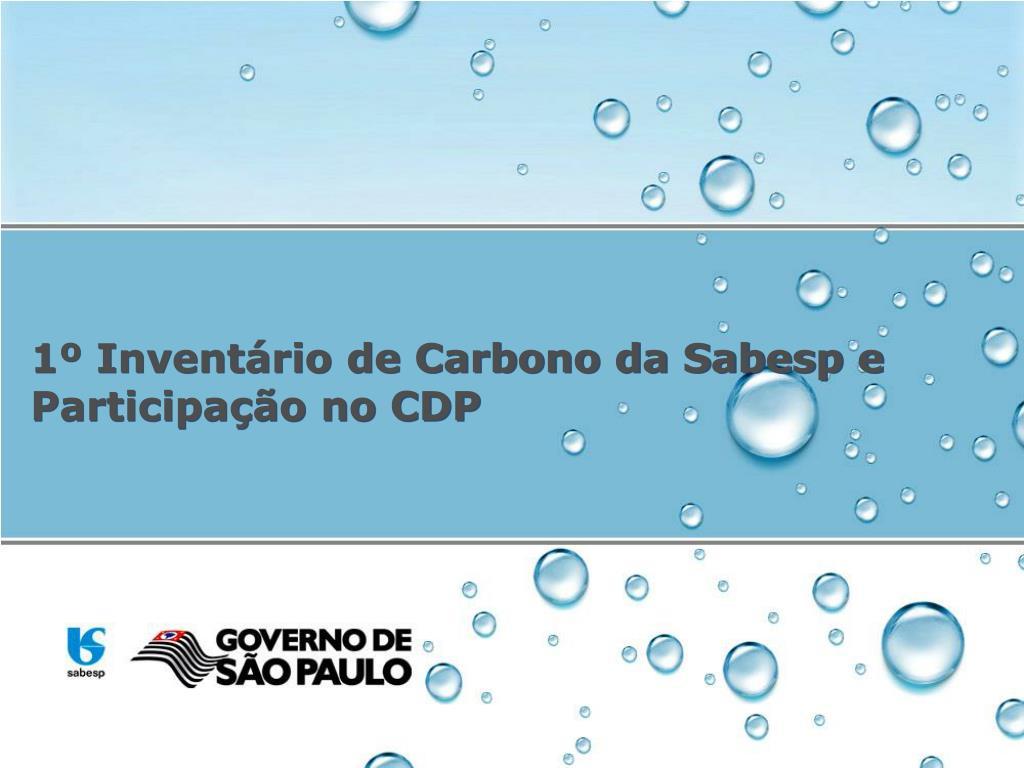 1º Inventário de Carbono da Sabesp e