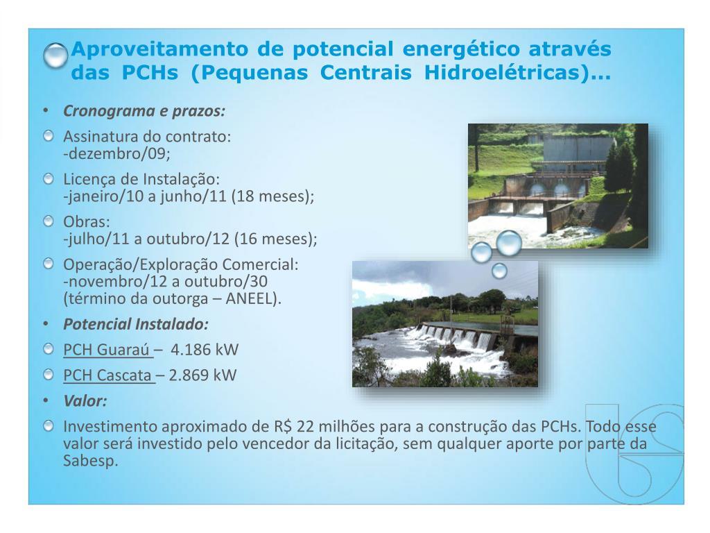Aproveitamento de potencial energético através