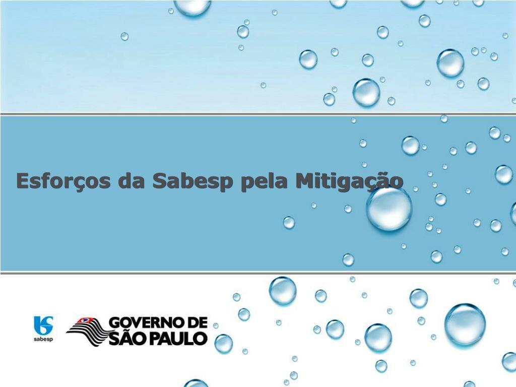 Esforços da Sabesp pela Mitigação