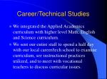 career technical studies