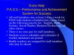 extra help p a s s performance and achievement system for success39