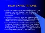 high expectations20