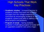 high schools that work key practices13