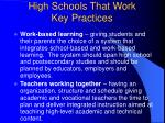 high schools that work key practices14
