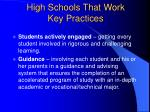 high schools that work key practices15