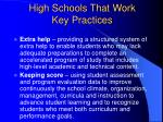 high schools that work key practices16