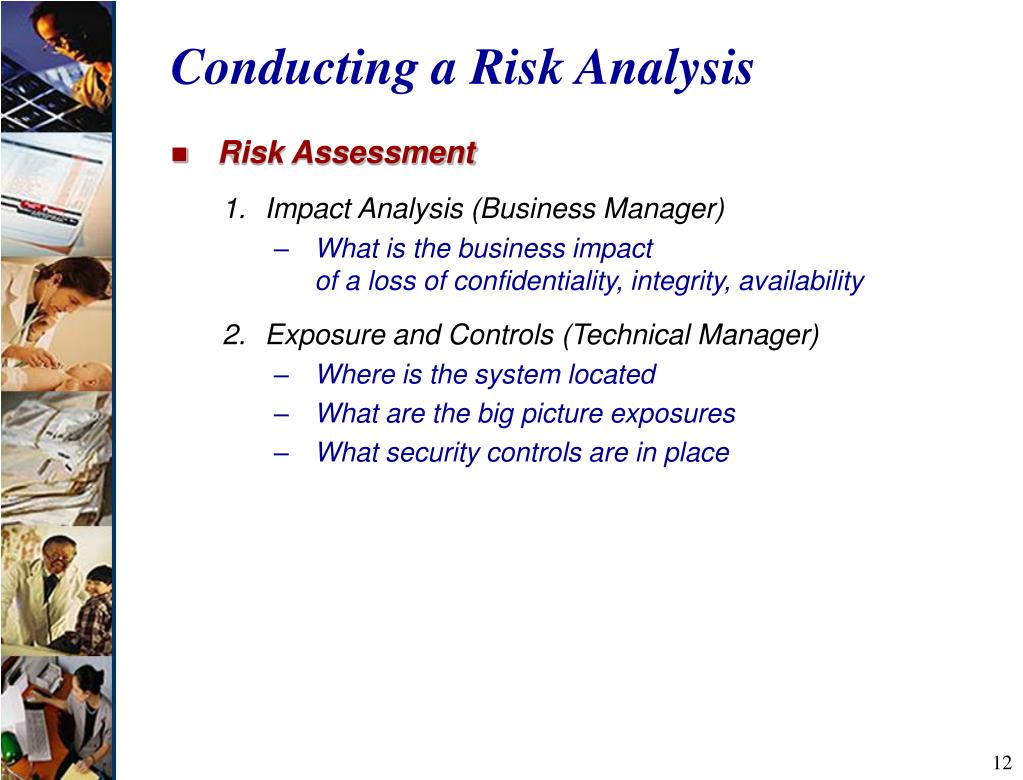 Conducting a Risk Analysis