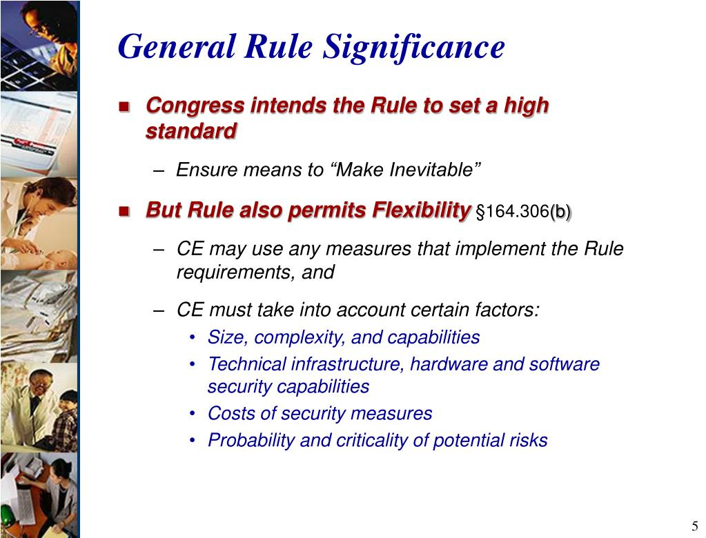 General Rule Significance