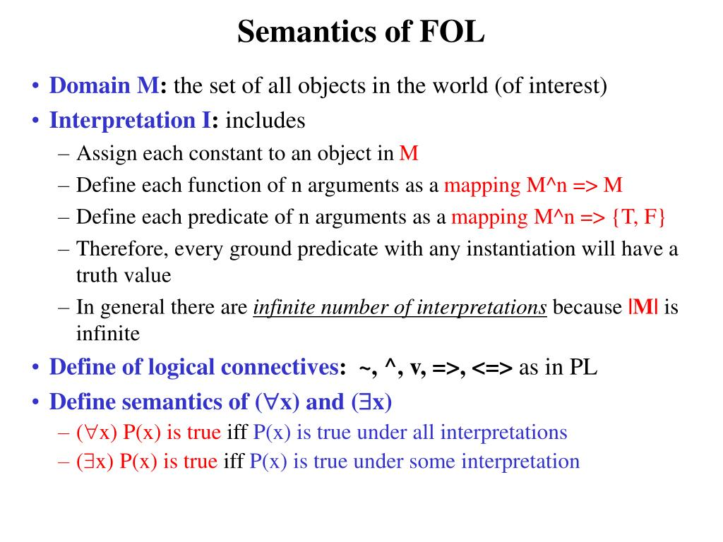 Semantics of FOL