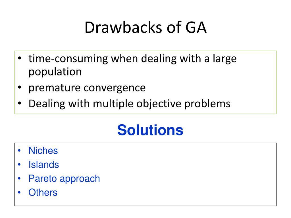 Drawbacks of GA
