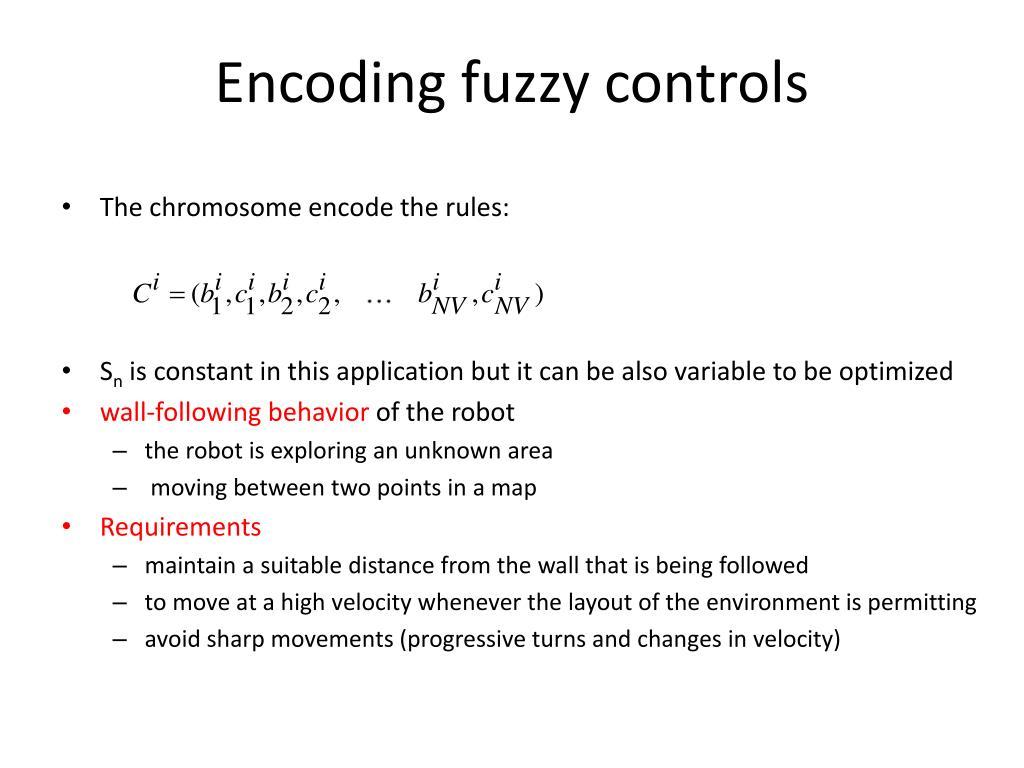 Encoding fuzzy controls
