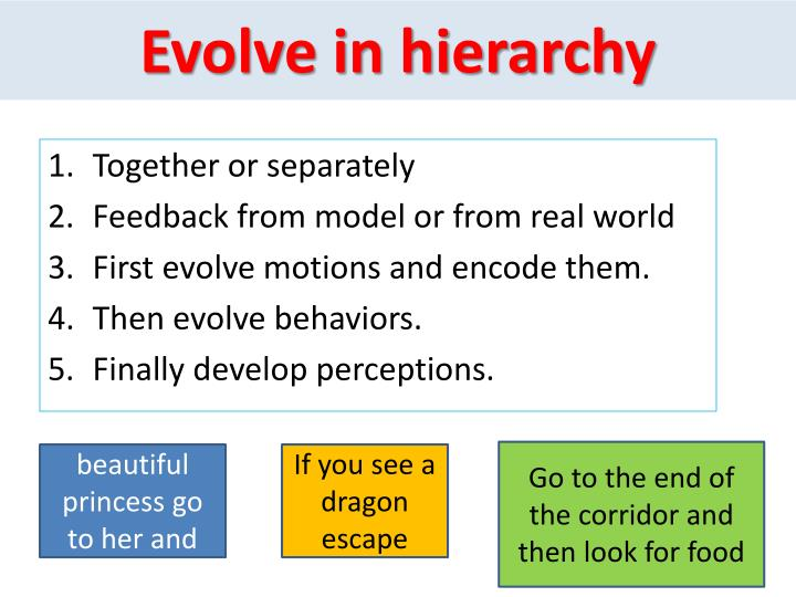 Evolve in hierarchy