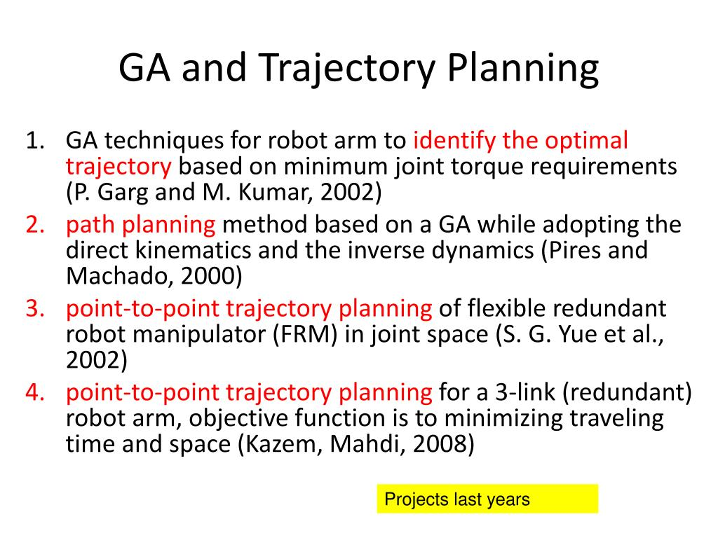 GA and Trajectory Planning
