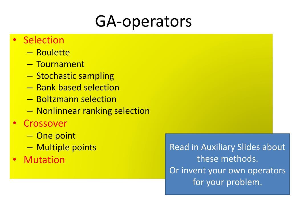 GA-operators