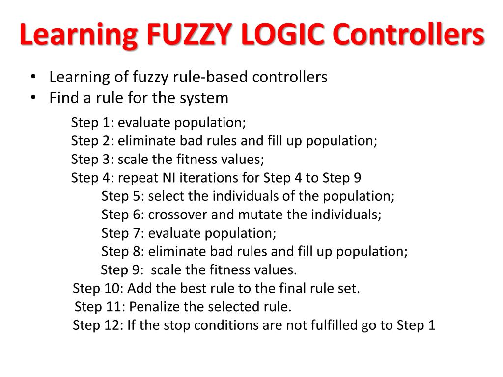 Learning FUZZY LOGIC Controllers