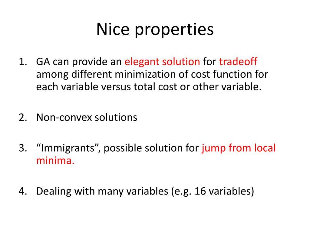 Nice properties
