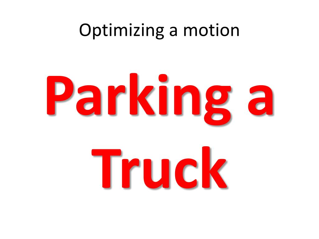 Optimizing a motion