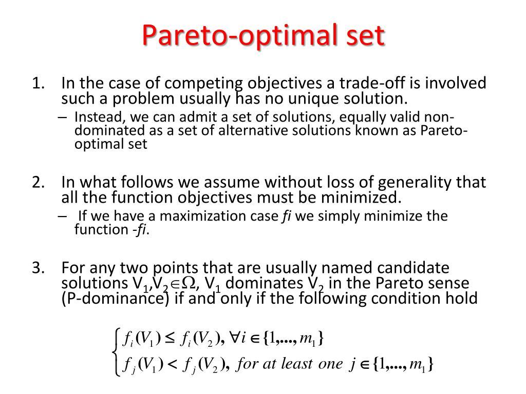Pareto-optimal set